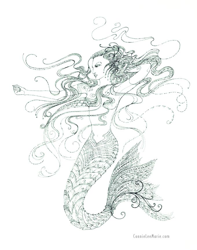 Mermaid by Connie Lee Marie Fisher
