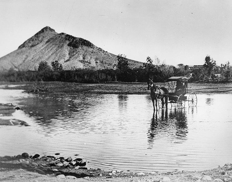 1871 - Salt River at Hayden's Ferry, near Tempe Butte, Tempe, AZ