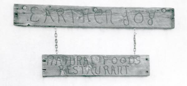 1970s - Earthen Joy Natural Foods Restaurant sign, east of Mill Ave on the north side of 5th Str.