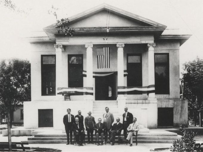 First Tempe City Hall completed in 1914 in neoclassical style, demolished in 1968
