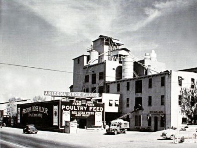 1940 - The Hayden Flour Mill and Silos, rebuilt in 1918 (after 1917 fire) in operation until 1998