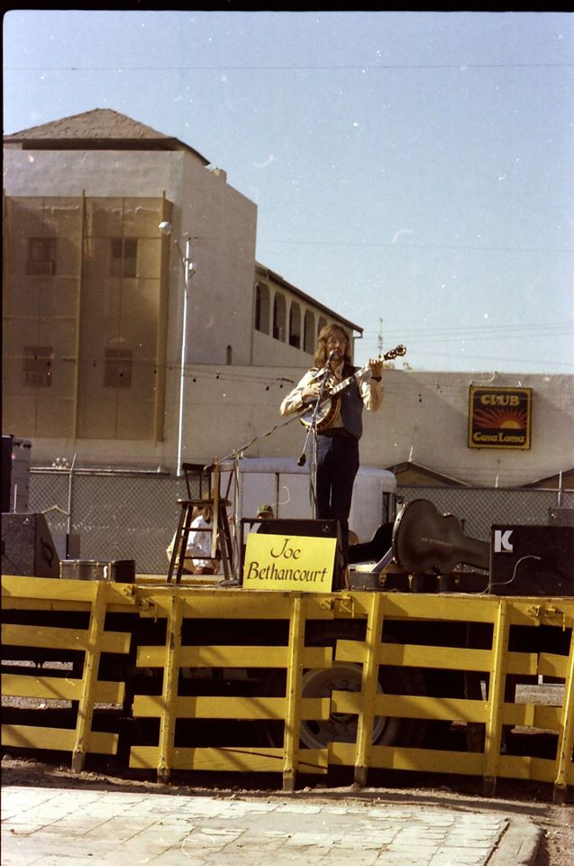 1970s - Joe Bethancourt playing at the Mill Ave Fair, Tempe, AZ