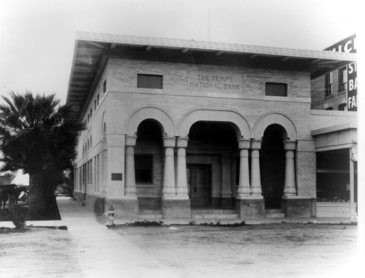 Built in 1912 - Tempe National Bank on Mill Ave, Tempe, AZ