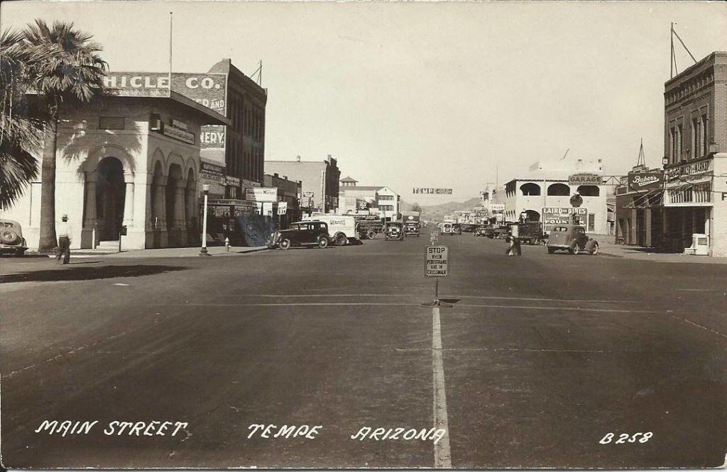 circa 1940s, Mill Ave, Tempe, AZ