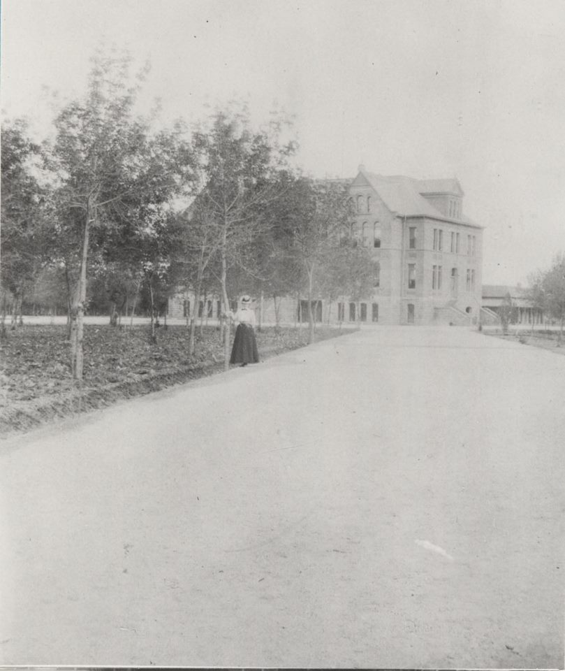 circa 1900 - The Old Main at Tempe Normal School (ASU)