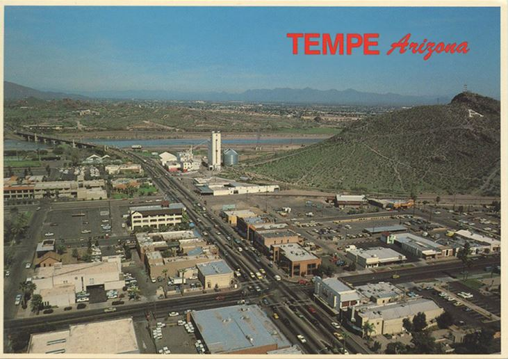 1978 - aerial photo to the north, Tempe, AZ