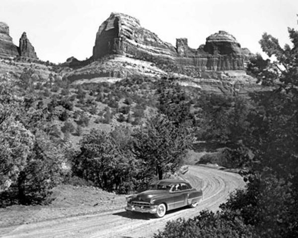 1950s - 1949 Cadillac on Schnebly Hill Road, Sedona, Arizona Photo by Bob Bradshaw