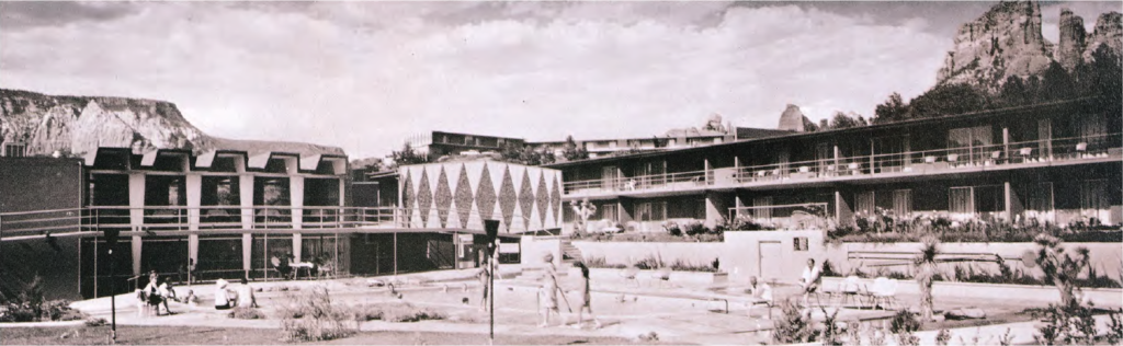 The Kings Ransom Hotel (now Arabella) on Hwy 179 in 1966, photo by Bob Bradshaw