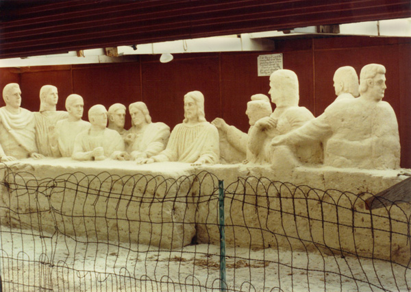 Last Supper Sand Sculpture by Ted Conibear in Oak Creek Canyon on 89A