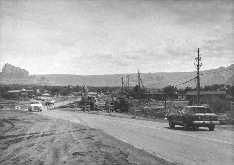 late 1970s facing the northeast in West Sedona, near Relics by Dry Creek Road